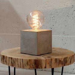 Tischlampe URBANO Grau aus einem Block Feinbeton 12cm Höhe