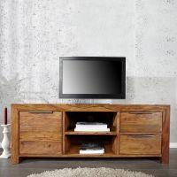 TV-Tisch SATNA Sheesham massiv Holz gewachst 135cm