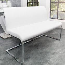 Sitzbank ENZO Weiß aus Kunstleder 130cm