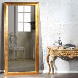 XXL Zeitlos Romantischer Wandspiegel LILLE Gold in Klassik-Design 180cm x 85cm