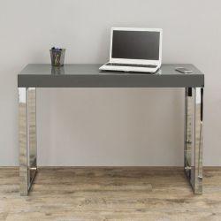 Schreibtisch PRINCETON Grau Hochglanz 120cm