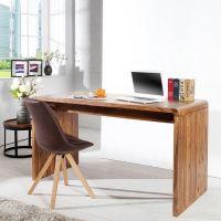 Schreibtisch DAIPUR Sheesham massiv Holz gewachst 150cm