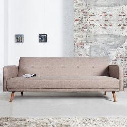 Retro Schlafsofa GÖTEBORG Beige-Eiche 210cm im skandinavischen Stil