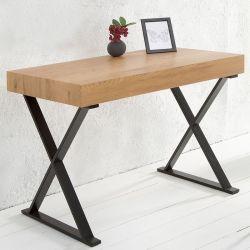 Schreibtisch LONDON Eiche & Gestell Schwarz 100cm
