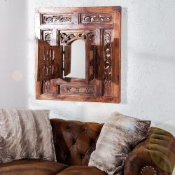 Wandspiegel ORIENT Sheesham Handarbeit 2 Türen 70cm x 60cm