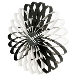 Wanduhr LOTUS Schwarz-Weiß 50cm