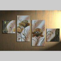 4 Leinwandbilder MOHN (2) 80 x 50cm Handgemalt