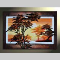 Leinwandbild AFRIKA Baum (1) 100 x 60cm Handgemalt