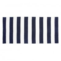 LENE BJERRE Badvorleger Rug stripes white blue