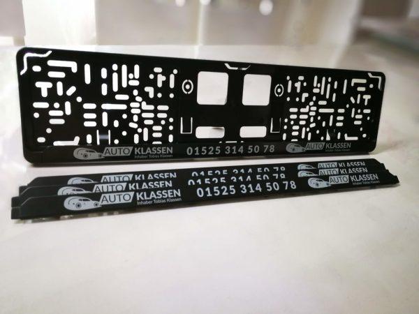 Kennzeichenverstärker mit Ihrem Design / Logo