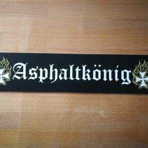 "LKW Namensschild ""Asphaltkönig"""