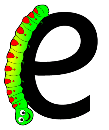 caterpillar letter e