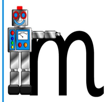 Robot letter m