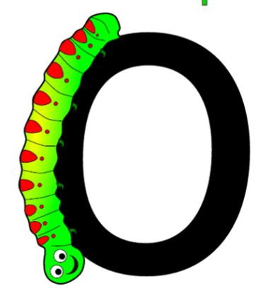 caterpillar letter o