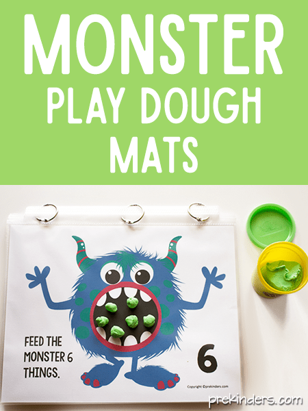Play Dough Math Mats PreKinders