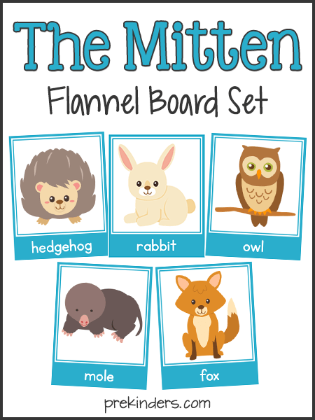 The Mitten Story Sequencing Amp Flannel Board Cards