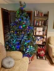 Peacock themed christmas tree