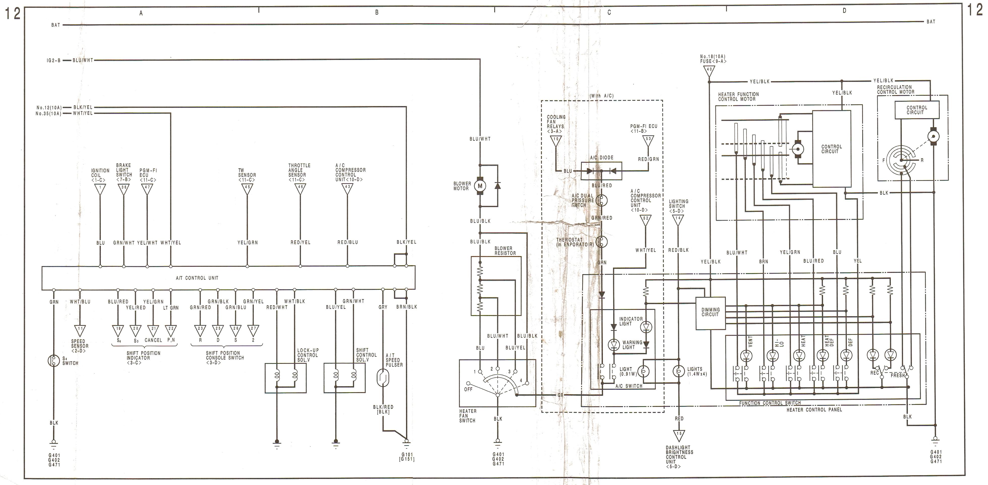 Honda Prelude Fuse Diagram