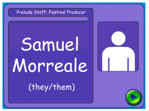 Staff card for Sam Morreale, producer