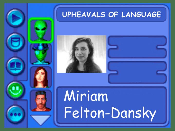 Panelist card for Miriam Felton-Dansky