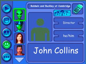 Performer card of John Collins, director