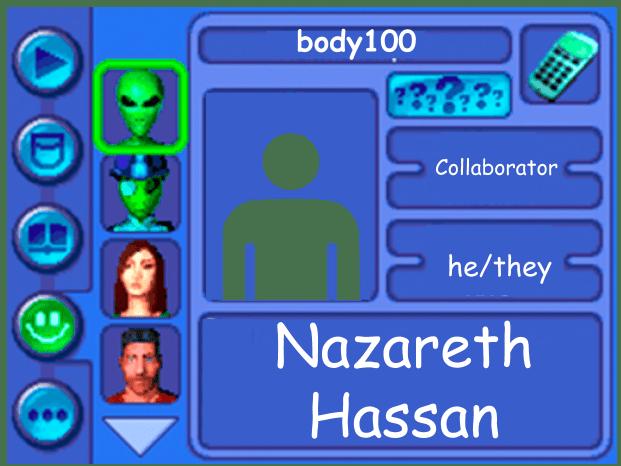 Performer card Collaborator Nazareth Hassan