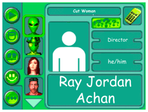 Performer card for Ray Jordan Achan, director