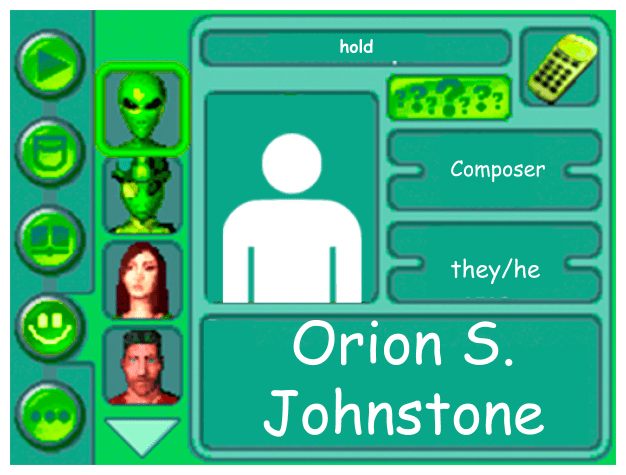 Performer card for Orion S. Johnstone, composer