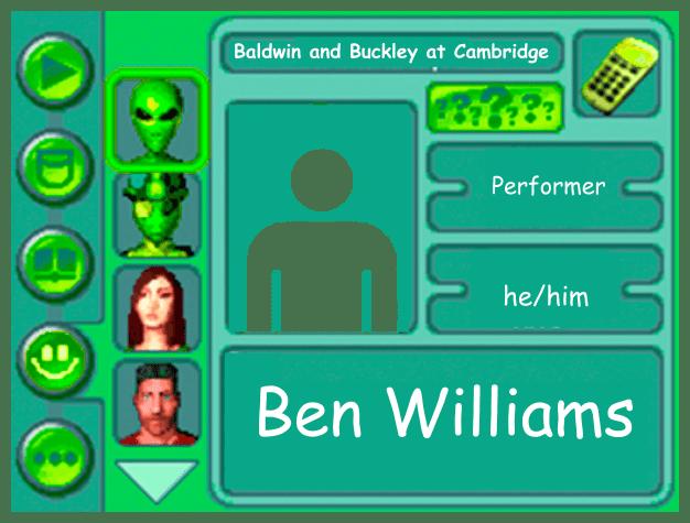 Performer card of Ben Williams, performer