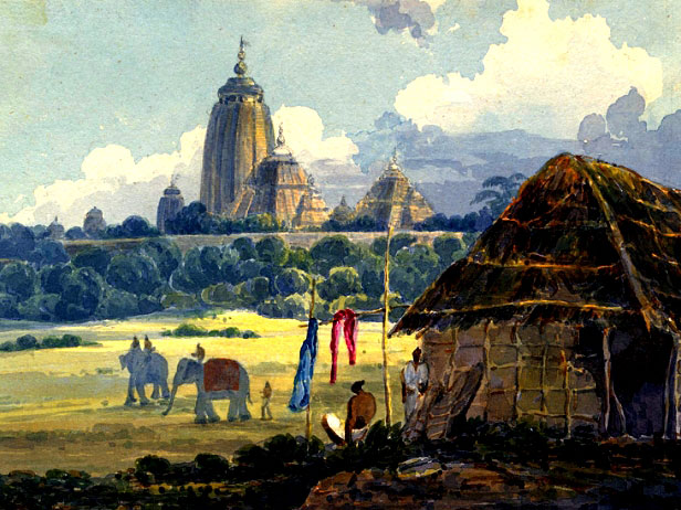 Jagannath-Temple-19th-Century-Watercolour