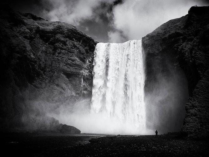 Man-Waterfall