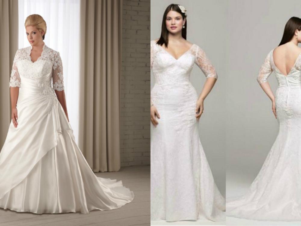 Plus Size Mermaid Wedding Dresses With Sleeves