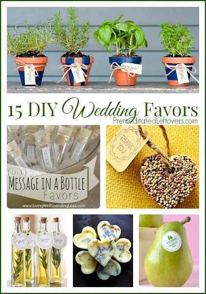 Frugal Wedding Favors