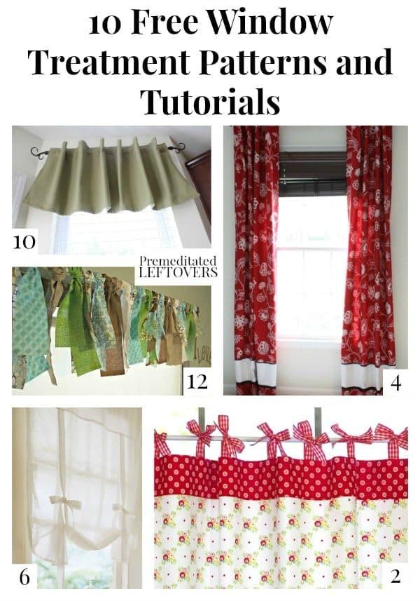 free window treatment patterns