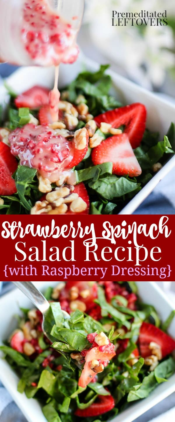 Strawberry Spinach Salad Recipe with Fresh Raspberry ...