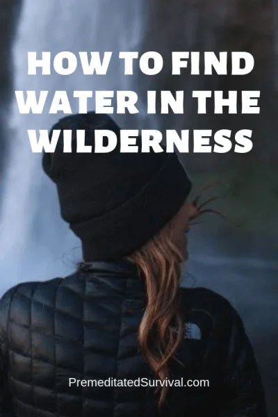 how to find water in the wilderness