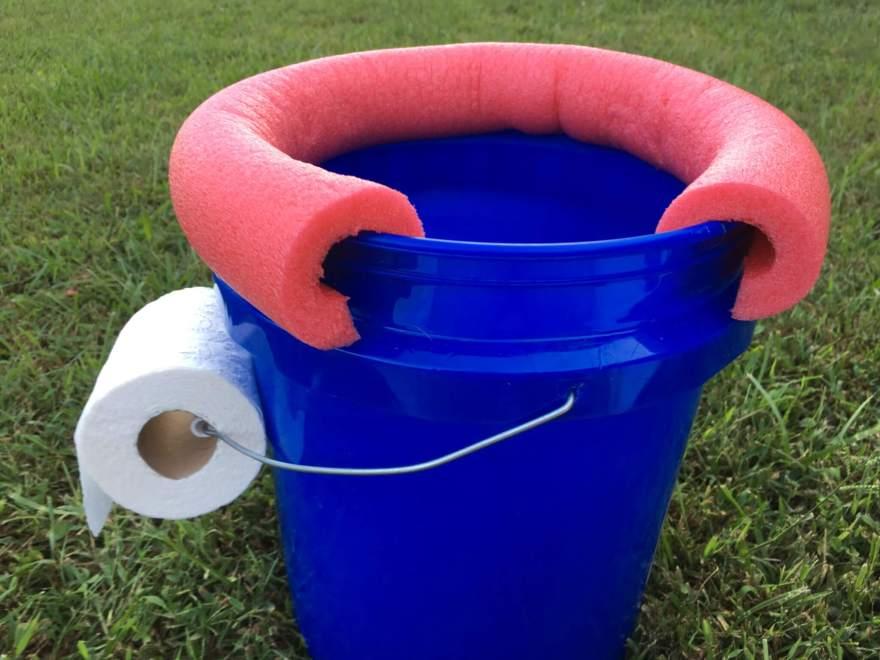 camping toilet bucket