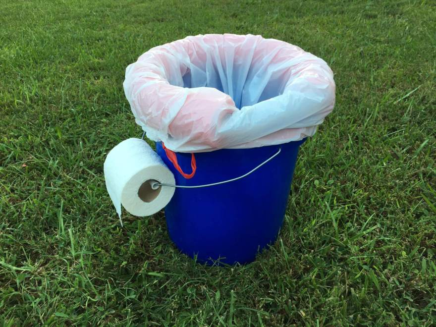 DIY toilet for camping