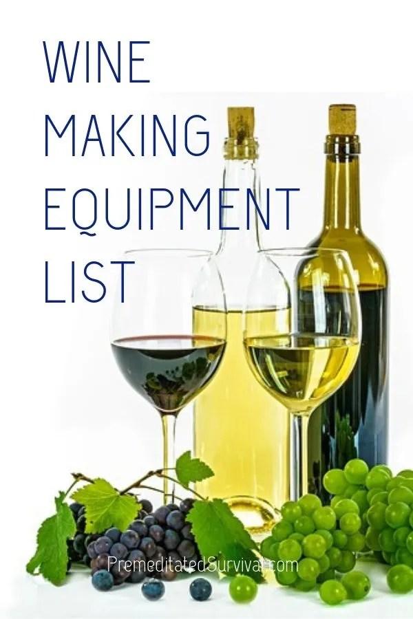 winemaking equipment list