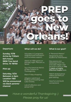 program new orleans host fam poster