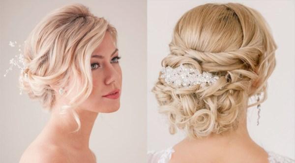 Свадебные прически на волосы до плеч фото: Свадебные ...