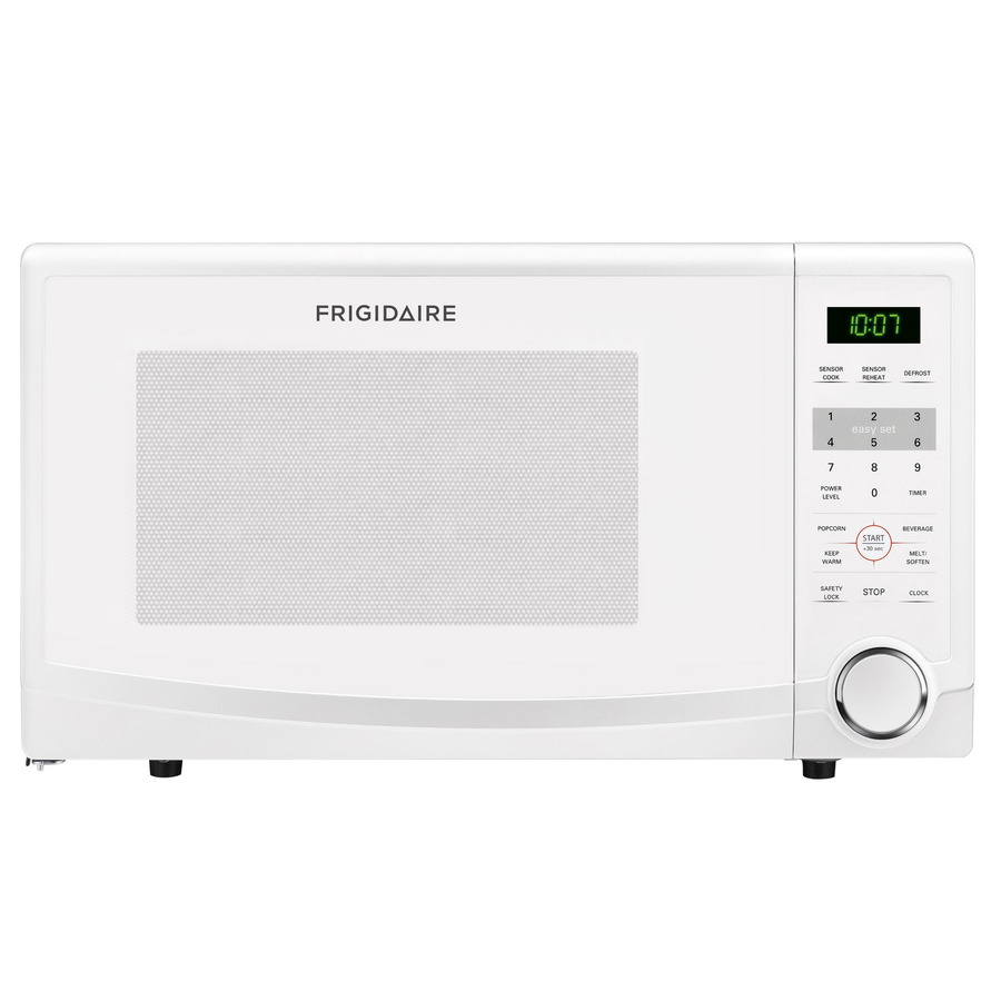 frigidaire ffcm1134lw 1 1 cu ft countertop microwave oven with 1 100 cooking watts 10 power levels 6 quick start one touch options
