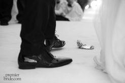 Jewish wedding tradition breaking a glass