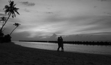 Romantic beach honeymoon
