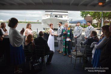 "Bride and groom say ""i do"" aboard the Spirit of Philadelphia"