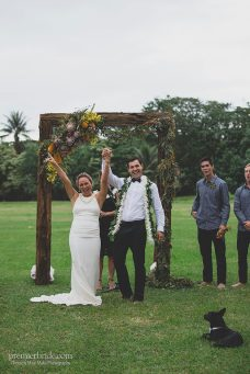 Bride and Groom after Hawaiian Wedding Ceremony