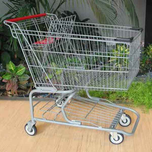 Used Large Wire Metal Grocery Shopping Cart Premier Carts