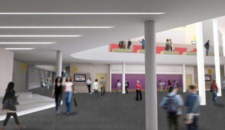 the University of Hertfordshire's de Havilland Campus- Weston Atrium- Weston Auditorium Foyer