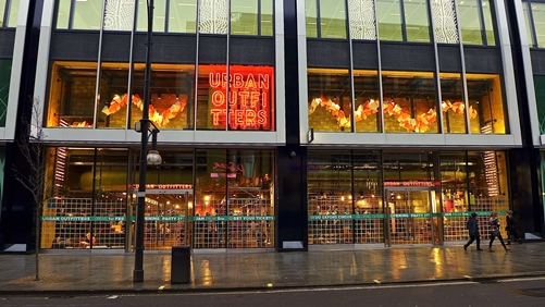 Urban Outfitters- Marble Arch end of Oxford Street