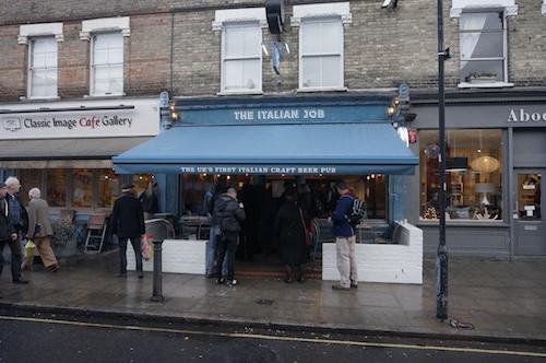 The Italian Job, Devonshire Road in Chiswick